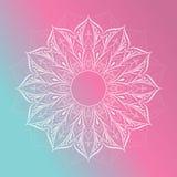De decoratieve elementen van bloemmandala vintage vector illustrationIn Stock Afbeelding