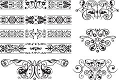 De decoratieve elementen van het ornament vector illustratie
