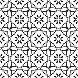 De decoratieve Geometrische van de de Bladeren Bloemenbloem van het Sterren Stammenblad Kalligrafie die van het Damastwervelingen Stock Foto's