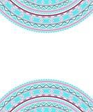 De decoratieve grens van de Bohostijl Royalty-vrije Stock Afbeeldingen