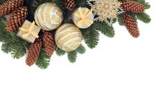 De Decoratieve Grens van Kerstmis Stock Foto's