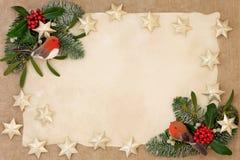 De Decoratieve Grens van Kerstmis royalty-vrije stock fotografie