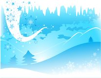 De decoratieve illustratie van de winter vector illustratie