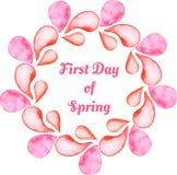 De decoratieve kaart van de lente Royalty-vrije Stock Afbeelding