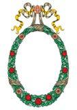 De decoratieve Kaders van Lintenbanners verfraaiden Elegante stijl vector illustratie