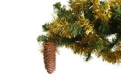 De decoratieve kegel van Kerstmis Stock Afbeeldingen
