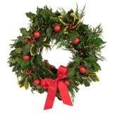 De Decoratieve Kroon van Kerstmis stock afbeelding