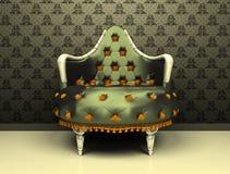 De decoratieve leunstoel van de luxe op ornament Royalty-vrije Illustratie