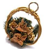 De decoratieve mand van Kerstmis Stock Fotografie