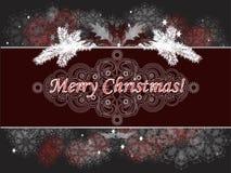 De decoratieve prentbriefkaar van Kerstmis Stock Foto's