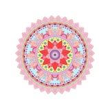 De decoratieve stammenrozet van het mandalaornament Vector illustratie Stock Afbeelding