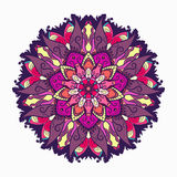 De decoratieve stammenrozet van het mandalaornament Vector illustratie Stock Afbeeldingen