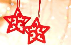De decoratieve ster van Kerstmis Stock Afbeeldingen