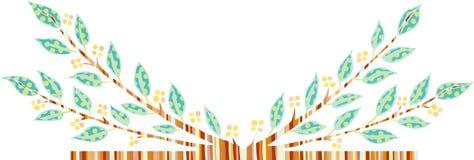 De decoratieve tak van het beeldverhaal Stock Afbeeldingen