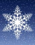 De decoratieve Vector van het Ornament van de Sneeuwvlok Stock Foto's