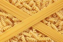 De Deegwaren en de Spaghetti van Fusilli Stock Afbeelding