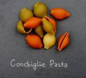 De Deegwaren van Conchiglietricolore Royalty-vrije Stock Afbeelding
