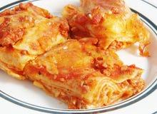 De deegwaren van de lasagna Stock Afbeelding