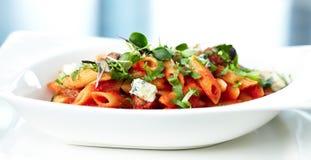 De deegwaren van de tomaat royalty-vrije stock afbeeldingen