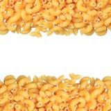 De deegwarenclose-up van de macaronihoek stock foto's