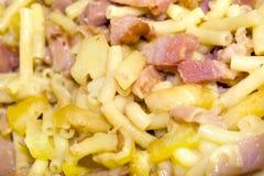 De deegwarenschotel van de macaroni Royalty-vrije Stock Foto's