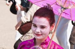 De deelnemer van de festivalbel Dreamflash bij VDNH Stock Afbeeldingen