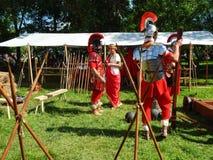 De deelnemers van de internationale festivaltijden en de tijdvakken Oud Rome Stock Foto