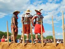 De deelnemers van de internationale festivaltijden en de tijdvakken Oud Rome Royalty-vrije Stock Foto