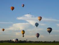 De deelnemers van het festival van het ballooning stock afbeelding
