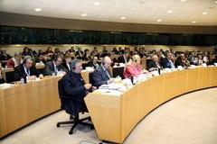 De deelnemers van het overzicht van het Forum van de Europese Unie. Stock Foto