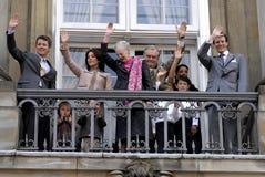 DE DEENSE KONINKLIJKE FAMILIE VAN DENEMARKEN Royalty-vrije Stock Afbeeldingen