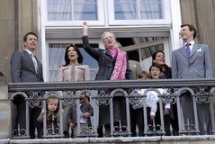 DE DEENSE KONINKLIJKE FAMILIE VAN DENEMARKEN Royalty-vrije Stock Afbeelding