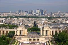 De Defensie van La in Parijs Frankrijk Stock Fotografie