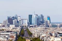 De Defensie van La, Parijs, Frankrijk Stock Foto's