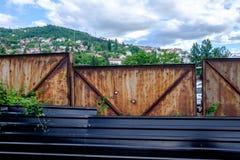 De defensie van Sarajevo, Bosnië-Herzegovina royalty-vrije stock afbeelding