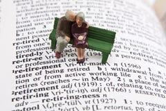 De definitie van de pensionering Stock Foto's