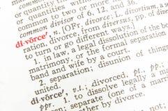 De definitie van de scheiding - wettelijke termijn Royalty-vrije Stock Foto's