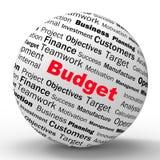 De Definitie van het begrotingsgebied toont Financieel Beheer of zaken Stock Foto's