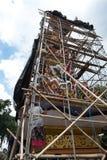 De definitieve voorbereidingen aan boden crematietoren in Ubud, Bali voor de Koninklijke Familie Begrafenis 27 Februari 2018 Royalty-vrije Stock Foto