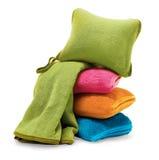 De deken en het hoofdkussen van de reis Royalty-vrije Stock Afbeeldingen