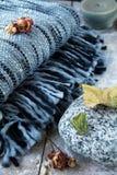 De deken van de plaid Stock Foto's
