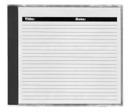 De dekking van CD met ruimte voor uw nota's Royalty-vrije Stock Afbeeldingen