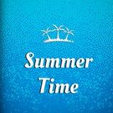 De dekking van de de zomertijd stock illustratie