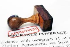 De dekking van de verzekering Stock Foto's