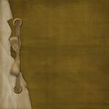 De dekking van Grunge voor album met linten Stock Afbeelding