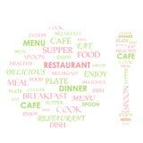De dekking van het menu royalty-vrije illustratie
