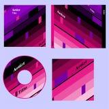 De dekkings retro ontwerp van CD Stock Foto's