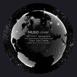 De dekkingsmalplaatjes van het muziekalbum Globale wereldbol, royalty-vrije illustratie
