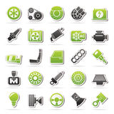 De Delen van de auto en de pictogrammen van de Diensten Royalty-vrije Stock Fotografie