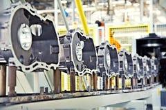 De delen van de productie voor motor Stock Foto
